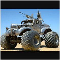 """""""Mad Max Monster Truck!.... #madmax #madmaxcars #monstertrucks #monstertruck #ratrod2 #monster"""""""
