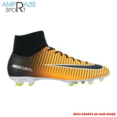 59167fe5f38f Nike Men s Mercurial Victory VI Dynamic Fit Firm-Ground Soccer Cleats  (Laser Orange Black White Volt