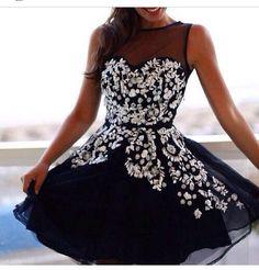 Short Homecoming Dresses,Homecoming Dress,black Party Dresses