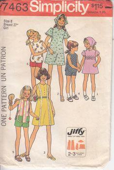 Girl's Dress Pattern Child's Blouse Pattern JIFFY by HoneymoonBus, $7.99