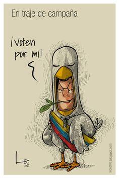En traje de campaña caricatura Leonardo Parra, Caricaturas - Semana.com
