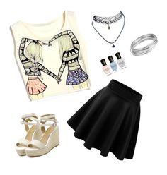 """Summer outfit "" by ekaterina-potapova on Polyvore"