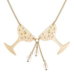 Tatty Devine Champagne Cheers Necklace