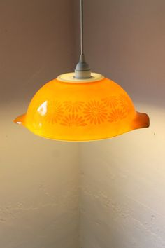 Turn a mixing bowl into a light fixture!