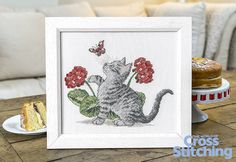 Cute cross stitch kitten - bring this adorable nature scene to life in stitches, in our exclusive project. Look out for the pattern only in the new issue 227 of The World of Cross Stitching magazine