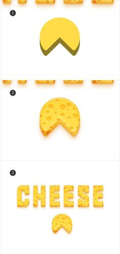 Create a Detailed Cheese Text Effect in Adobe Illustrator Graphic Design Fonts, Design Typography, Design Logo, Design Poster, Graphic Design Tutorials, Graphic Design Illustration, Graphic Design Inspiration, Vector Design, Typography Alphabet