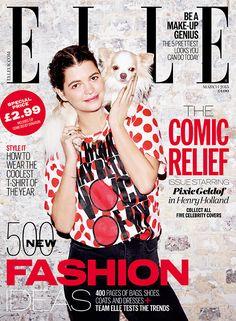 cool Elle UK x Red Nose   Kate Upton, Keira Knightley, Daisy Lowe, Pixie Geldof e Abbey Clancy  [Capas]