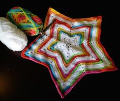 Star blanket - Free pattern link on blog