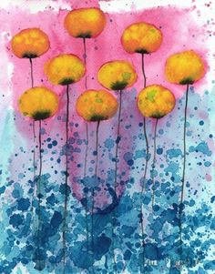 In Pursuit of Forgotten Dreams  Yellow Flowers  by printmakerjenn, $20.00