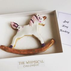 How cute is this unique Unicorn rocking horse cookie.  This cookie is handmade and hand-decorated using only the finest ingredients.   All