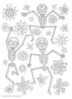 Dibujos para colorear el día de los muertos (26)