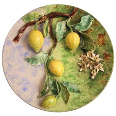 Longchamp Charger of Lemons | From a unique collection of antique and modern pottery at http://www.1stdibs.com/furniture/dining-entertaining/pottery/