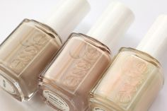 ....These 3 Essie colors: Sand Tropez, Topless and Barefoot, and Kisses. Natural and Pretty :)