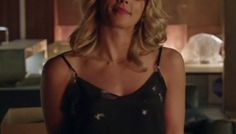 Felicity: Sleeveless Denim V-Neck Top Fit Flare Dress, Fit And Flare, The Cw Shows, Studded Denim, Viscose Dress, Denim Top, Black Print, V Neck Tops, 4 Images