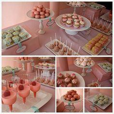 bridal shower dessert ideas. Side note: LESS PINK!!!!!!!!!!!!!!!!!!