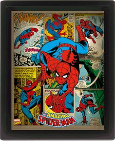 The Amazing Spiderman poster board. The poster has a hard wooden back with the poster applied. Marvel Dc Comics, Poster Marvel, Ms Marvel, Marvel Girls, Comic Poster, Marvel Comic Books, Comic Book Characters, Marvel Characters, Marvel Heroes