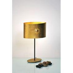 Holländer SUN OVAL Tischleuchte Braun, Gold 300 12225
