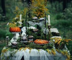 "linatraikoudi:  "" Autumn table decorations .  """