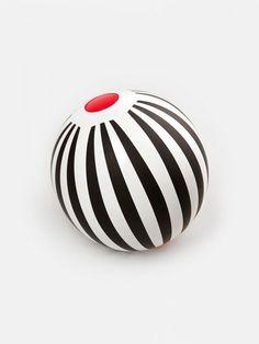Black Stripes Beach Ball designed by Zuzana Lednická