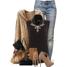 A fashion look from January 2015 featuring Mint Velvet sweaters, Anine Bing jeans and Jessica Simpson ankle booties. Browse and shop related looks.