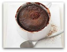 Chocolate Mug Cake Ingredients: 1 heaped tbsp almond meal or any nut meal 1 heaped tbsp unsweetened cocao powder 1 tbsp almond milk ½ tbsp honey 1 egg 1 tsp vanilla extract makes one serving. Directions Mix all ingredients together in a mug and microwave for 60-90 seconds (depending on your microwave power). Serve with your favorite nut butter or Greek yoghurt and berries.