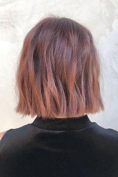 Flat iron waves on short rose gold hair #T3hair Rose Gold Short Hair, Rose Gold Hair Brunette, Hair Colour Design, Hair Color, Flat Iron Waves, Short Hair Waves, Coarse Hair, Hair Painting, Hair Inspo