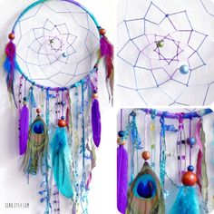 The Peacock Native Woven Dreamcatcher by eenk on Etsy, $59.00