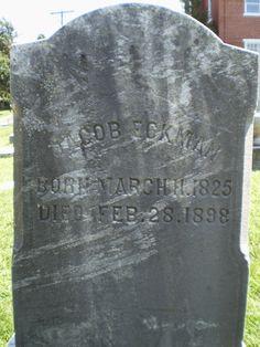 Genealogical Gems: Tombstone Tuesday: Jacob Eckman