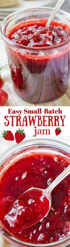 Easy Small-Batch Spiked Strawberry Jam with Grand Marnier | http://www.savingdessert.com