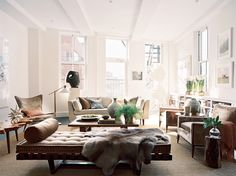 Brad Ford {eclectic modern living room} by recent settlers, via home design designs Living Room New York, Living Room Photos, Home And Living, Living Spaces, Modern Living, Cozy Living, Living Area, Small Living, Style Loft