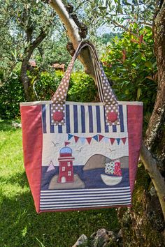 BEACH BAG E-PATTER, with internal and external pockets, fabric bag, summer bag