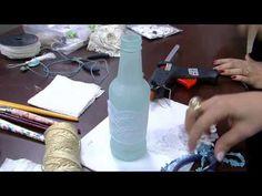 Mulher.com - 07/10/2015 - Decoração Shabby Chic em garrafa de vidro - Camila Claro de Carvalho PT2 - YouTube