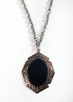 VELVETINE pendant - black