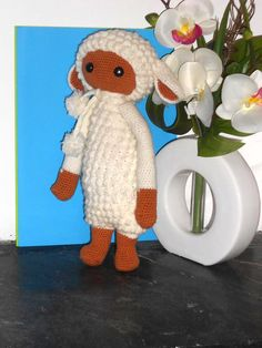 LUPO the lamb made by Audrey G. / crochet pattern by lalylala ♡