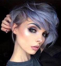 New hair blue eyes brows 18 ideas Pixie Hairstyles, Protective Hairstyles, Pretty Hairstyles, Asian Hairstyles, Latest Hairstyles, Hairstyles Haircuts, Hair Inspo, Hair Inspiration, Short Hair Cuts