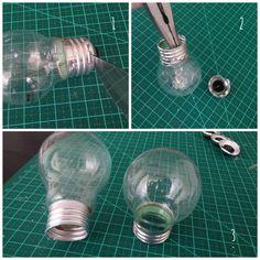 Aprenda a abrir e reaproveitar uma lâmpada na decoração