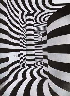 Black and White Tunnel Optical Illusion optical illusion Illusion Optical, Illusion Kunst, Optical Illusions, Illustration, Art Graphique, Art Plastique, Art Lessons, Line Art, Pop Art