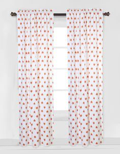 Playful Fox Curtain Panel