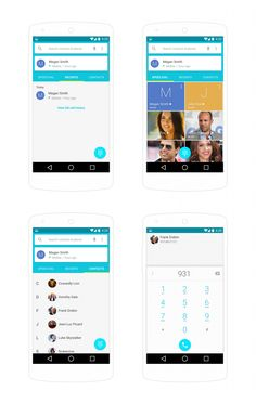 Freebie: Android L Contats UI #FreeUI from http://ortheme.com