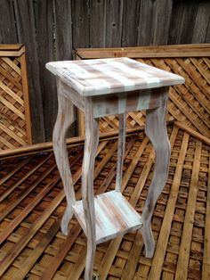 Striped Cottage Shabby Chic Side Table by BenedictsRepository, $40.00