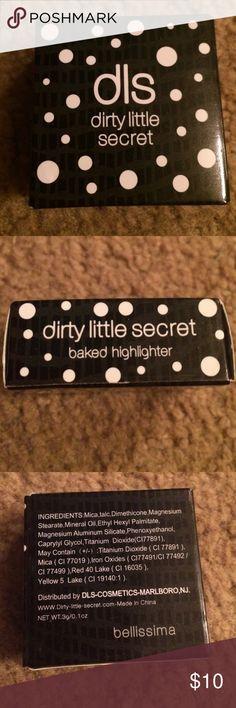 Brand new never used Baked highlighter Dirty little secret Makeup Blush
