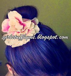 Bun hair, flower