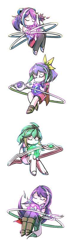 Yuzu, Serena, Rin and Ruri