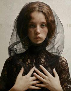 Louis Treserras5 Hyper realistic women portraits by Louis Treserras