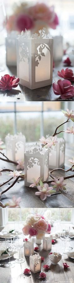 Wedding Planning In Wedding Planning mode? Here is a lovely cherry blossom pattern to help you get going on your DIY Wedding decor. - In Wedding Planning mode? Here is a lovely cherry blossom pattern to help you get going on your DIY Wedding decor. Origami, Diy Wedding Decorations, Wedding Centerpieces, Centrepieces, Paper Decorations, Papier Diy, Paper Cutting, Paper Flowers, Paper Flower Decor