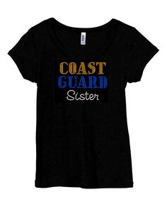 5c3aa52f Coast Guard Sister Sis RHINESTONE Military t-shirt tank top S M L XL 2XL  Hermana