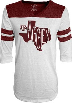 Texas A&M Womens Tri-Blend White T-Shirt