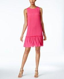 Tommy Hilfiger Drop-Waist Chiffon Dress