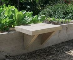 Great Idea for the garden . moveable seat for raised bed gardening . Raised Garden Beds, Raised Beds, Raised Planter, Raised Gardens, Small Gardens, Organic Gardening, Gardening Tips, Balcony Gardening, Gardening Vegetables