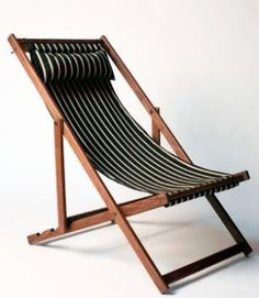 Outdoors: Deck Chairs from Gallant & Jones Currently coveting: Gallant & Jones deck chairs, featuring handmade North American black walnut frames with covers available in an array of colorf Garden Chairs, Garden Furniture, Wood Furniture, Furniture Design, Outdoor Furniture, Furniture Ads, Console Design, Comfortable Accent Chairs, Outdoor Chairs